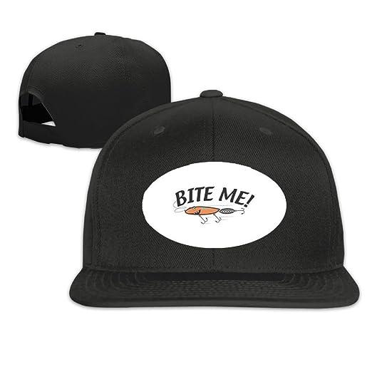 57e53767e46 Bite Me Fishing Comfortable Flat Baseball Caps For Teen Girls Designs Great  For Outdoor Running Visor