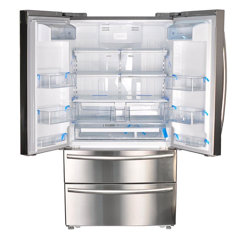 SMETA Congelador de puerta francesa vertical con máquina ...