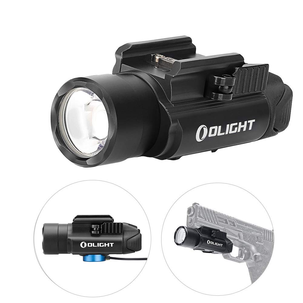 OLIGHT PL-Pro Valkyrie 1500 Lumens Cree XHP 35 HI NW Rechargeable Weaponlight Rail Mount Tactical Flashlight with Strobe (Black) by OLIGHT (Image #1)