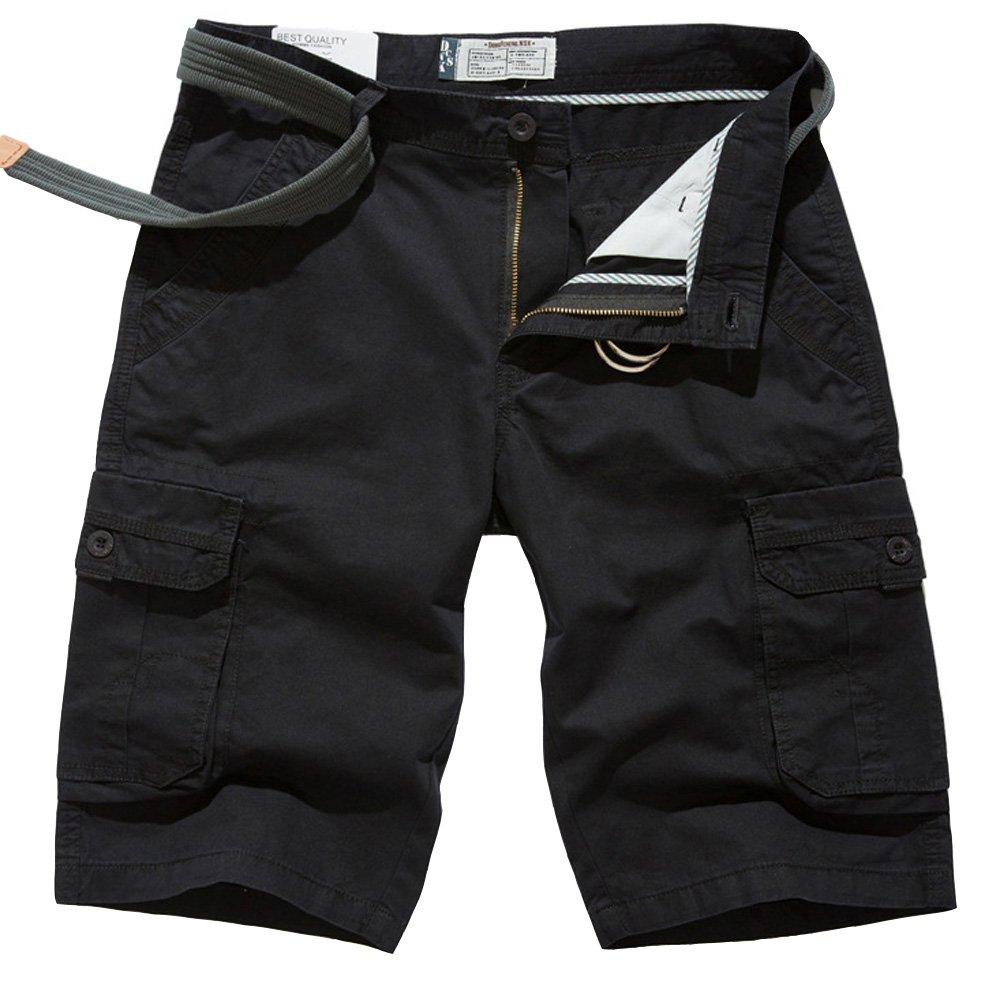 ROBO Pantaloncini Corti Uomo Bermuda Cargo Shorts con Tasconi Laterali, con cintura, IT 46-62 B1E0280