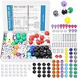 Swpeet 252 Pcs Molecular Model Kit for Inorganic & Organic Molecular Model Teacher and Student Kit - 86 Atoms & 153 Links & 12 Orbitals & 1 Short Link Remover Tool