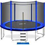 ORCC Trampoline 400 LBS Weight Capacity for Kids Adults, 15 14 12 10 8ft Outdoor Trampoline, Safe Backyard Trampoline with En