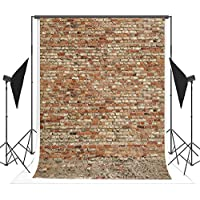 5x7ft Red Brick Wall Photo Backgrounds Brick Floor Wrinkle free Photography Backdrops for Wedding wd0012