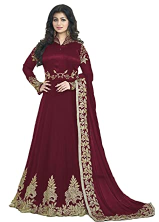 0bd8b523e2 Readymade Partywear Indian/Pakistani Salwar Anarkali Suit SF-116F4F11 (Small,  Maroon)