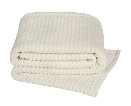chair or sofa YourHome Throw soft /& cosy teddy popcorn suitable for bed 125X150, NATURAL
