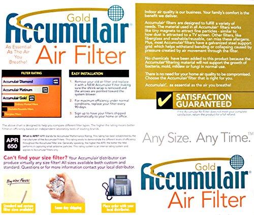 2 Pack Actual Size Accumulair Diamond 19x20x1 MERV 13 Air Filter//Furnace Filter