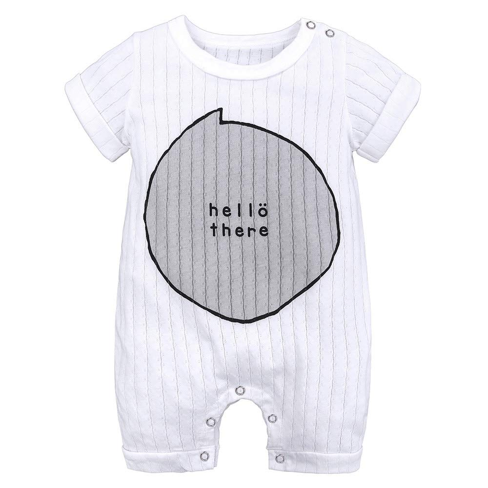 Dsood Newborn Romper Boy Long Sleeve,Newborn Toddler Infant Baby Boys Girls Striped Romper Jumpsuit Outfits Clothing,Baby Girls' Clothing, 2019,Gray