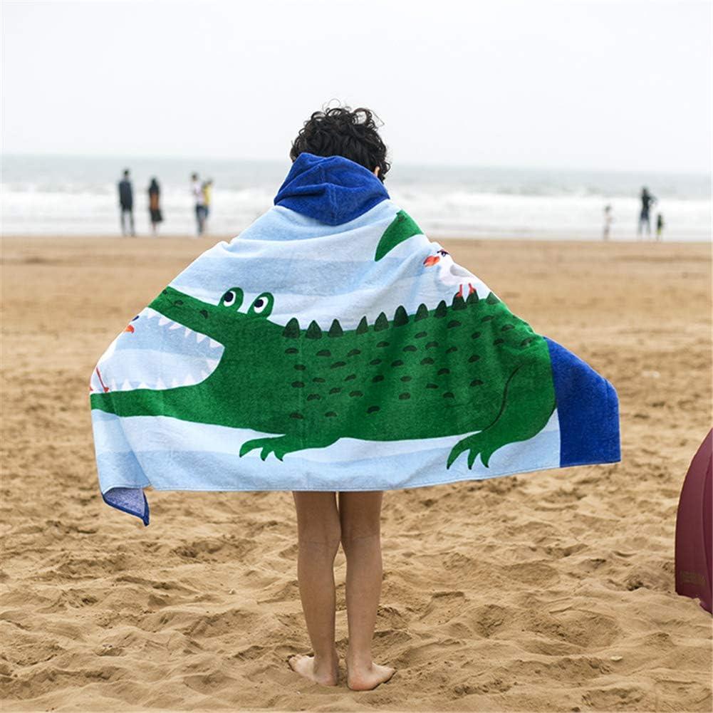 127cm Secado Rapido Dinosaurio Animados/Patr/ón Toalla Playa Ni/ños de 100/% Algod/ón Deportes Poncho Ba/ño Piscina Ni/ñas/con Capucha 2-7 A/ños 76