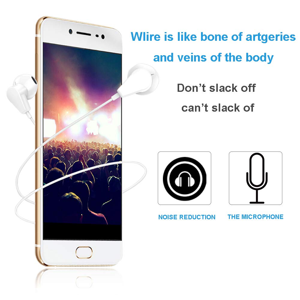 Fourcase Bluetooth Headphone/Earphones/Eaubuds/Headset Wired with Microphone & Remote Control Noise Canceling Sweatproof Compatible IP XS/XR/ XS Mas,IP 7/8/X/7 Plus/8 Plus