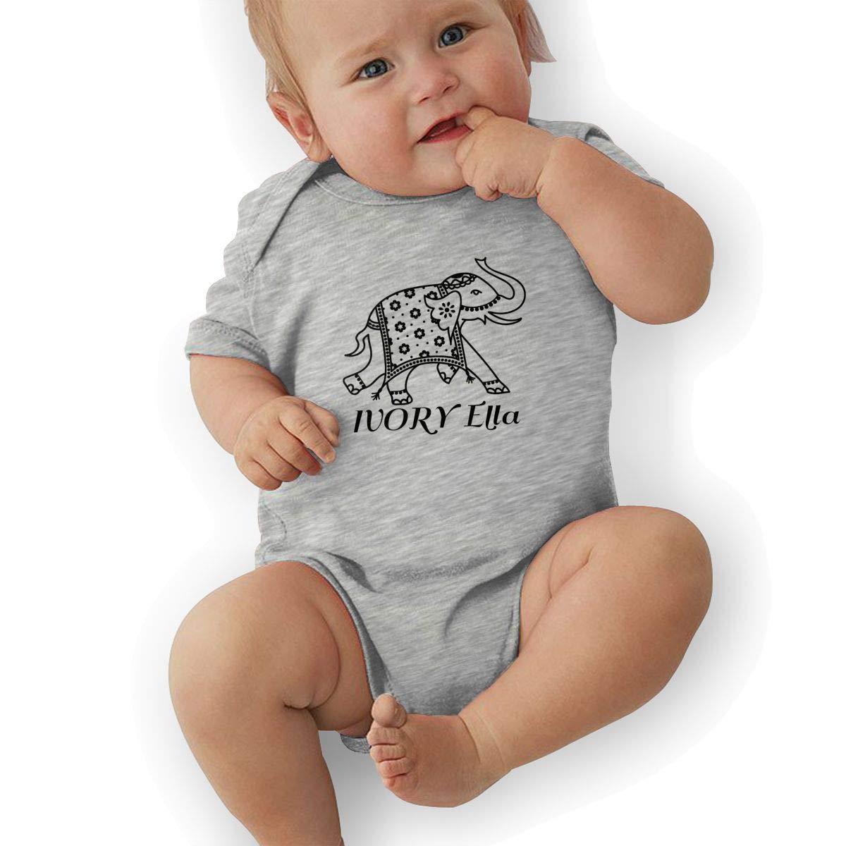 2128d7f0556c97 Amazon.com  Ivory Ella Newborn Infant Toddler Baby Girls Boys Bodysuit Short  Sleeve 0-24 MonthsGray  Clothing