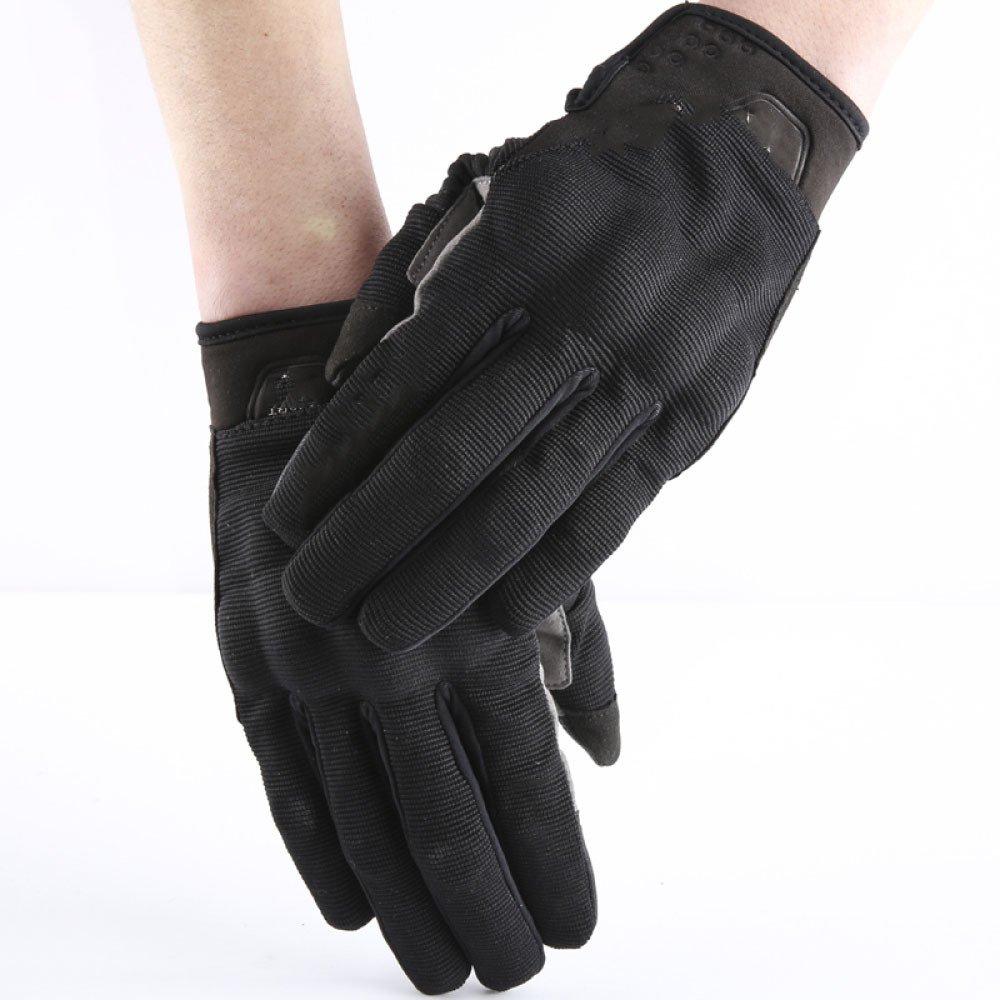 LDFN Sommer Dünne Atmungsaktive Drop-resistent Touch-Screen-Handschuhe Für Forcing Driving Skifahren Skating Klettern,schwarz-XL