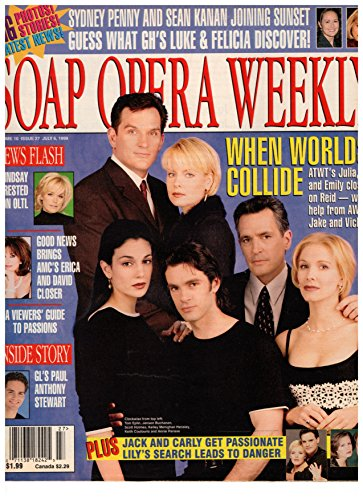 Soap Opera Weekly Magazine - July 6, 1999 - Tom Eplin & Jensen Buchanan (Another World) + Scott Holmes, Kelley Menighan Hensley, Keith Coulouris & Annie Parisse (As the World Turns)