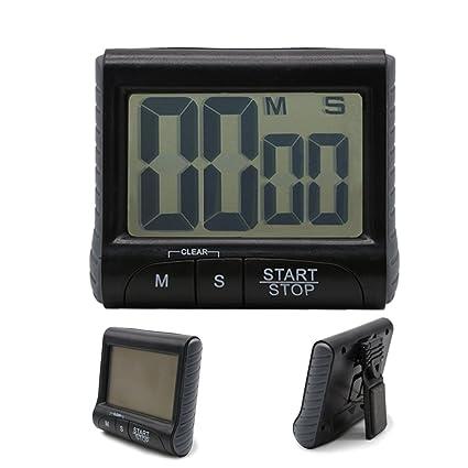 Stonges LCD Temporizador de gran dígito de la cocina digital Temporizador de conteo descendente Reloj alarma