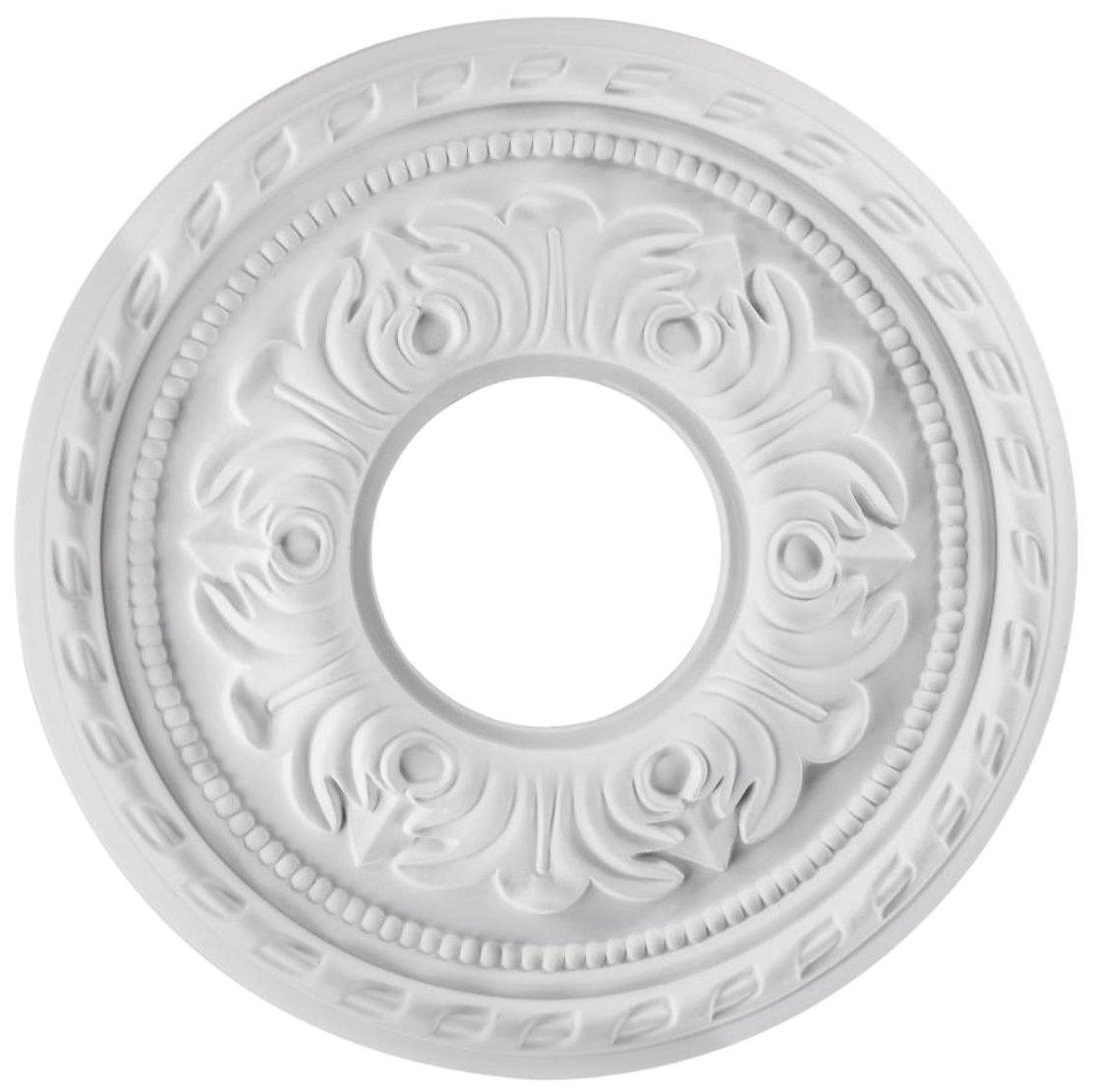 Westinghouse 7770900 12-Inch White Finish Violetta Ceiling Medallion