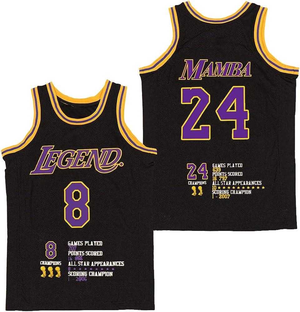 Men's Fashion Legend 8 Mamba 24 Bryant Basketball Jersey