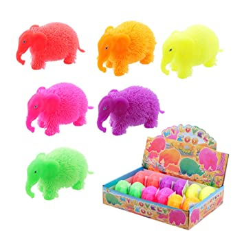 Amazon.com: Squidgy Squeezable intermitente elefante Puff ...
