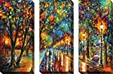 Art Sets of 3 Leonid Afremov Canvas Stretched Framed Free Shpping Made in North America offers