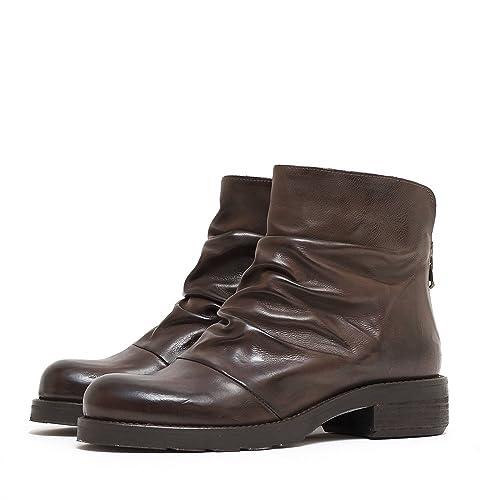 scarpe di separazione e9331 d40e1 Stivaletto in Pelle ARRICCIATA: Amazon.it: Scarpe e borse