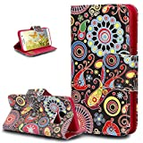 #9: Galaxy S7 Case,Galaxy S7 Cover,ikasus Colorful Art Painted PU Leather Flip Wallet Pouch Bookstyle Magnetic Closure with Card Slots Stand Protective Case Cover for Galaxy S7,Colorful Graffiti Totem