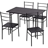 5PCS Dining Table Set Kitchen Dinette Table with 4 Chairs