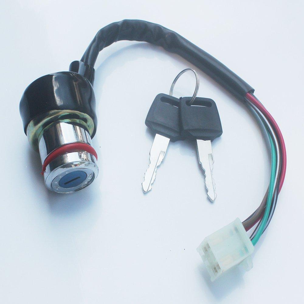 Kipa 6 Wires Key Ignition Switch For Kazuma Meerkat 50cc Falcon 90cc 110cc Atv Starter Wiring 125cc Redcat Quad Switches Automotive Tibs