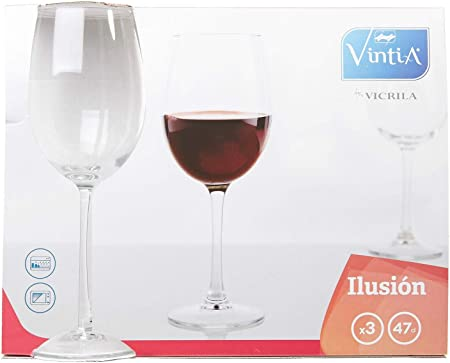 Vintia Ilusion Copas Vino, 8.7 cm, 3 Unidades