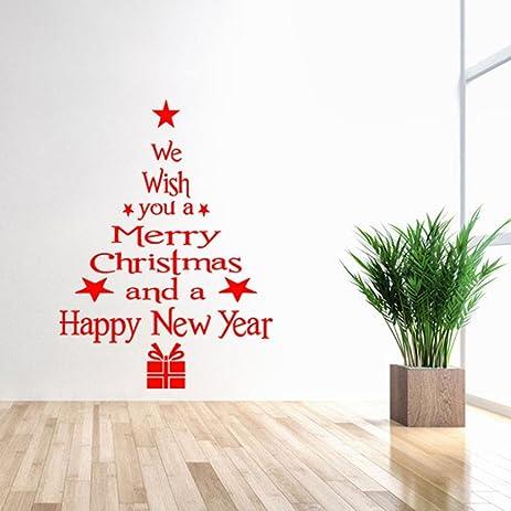 Amazoncom Matoen Christmas Tree Decals For Christmas Wall Decal - Christmas wall decals removable