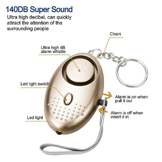 Amazon.com: Alarma personal, llavero con alarma de seguridad ...