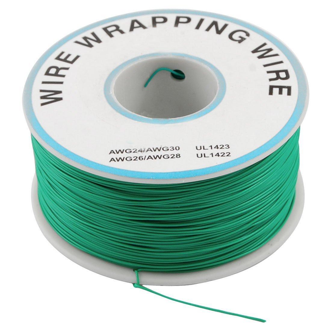 eDealMax verde flexible 0, 25 mm Diámetro del alambre de cobre 30AWG envoltorio de 1000 pies - - Amazon.com