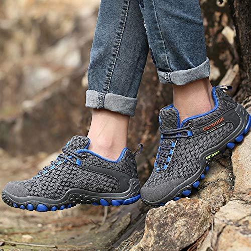 Hombres Senderismo Zapatos Al Zapatos Ocio Aire Caminar De Zapato Gris Libre Antideslizante Off Los ALIKEEY Calzado Viajes De q6IR55Wn
