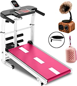 Treadmills for Home Folding, Portable Folding Mechanical Treadmill, Treadmills for Home 330 Lbs Weight Capacity, Walking, Running, Twisting, Sit-ups, with Ipad Frame MZXDX