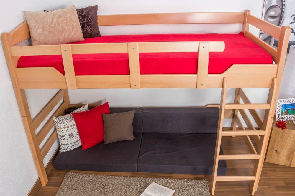 Kinderbett/Hochbett Easy Premium Line K14/n, Buche Vollholz Massiv Natur    Maße: 90 X 190 Cm: Amazon.de: Baumarkt