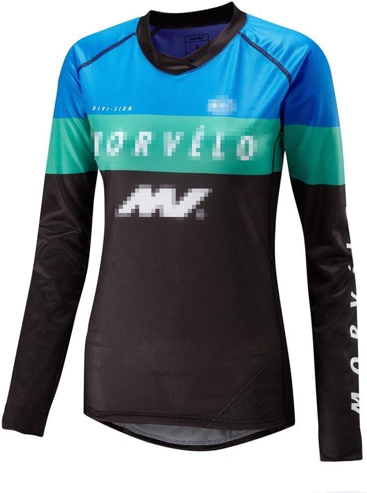 ZWW Womens Azul Ligero Camino de MTB de la montaña de Manga Larga Camisa de Ciclo Jersey Ropa de Deporte de Secado rápido Transpirable: Amazon.es: Deportes y aire libre