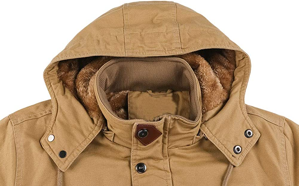 Adults Mens Check Zip Fleece Jacket Fur Lined Pockets Work Collar M Big Size 5XL
