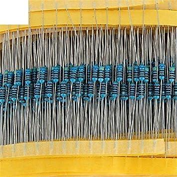 ARCELI 600pcs / Lot 30Values 20pcs 1% 1/4 W Resistor Pack El Kit de Resistencia de película metálica Utiliza una Resistencia de Anillo de Color (10 ohms ~ 1 M Ohm): Amazon.es: Electrónica