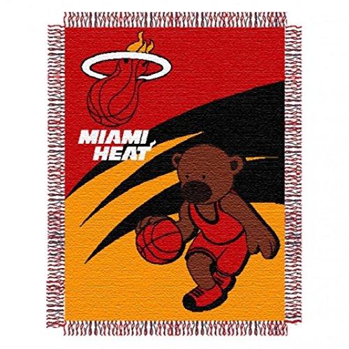 Northwest NBA Miami Heat Triple Woven Jacquard Baby Throw Blanket