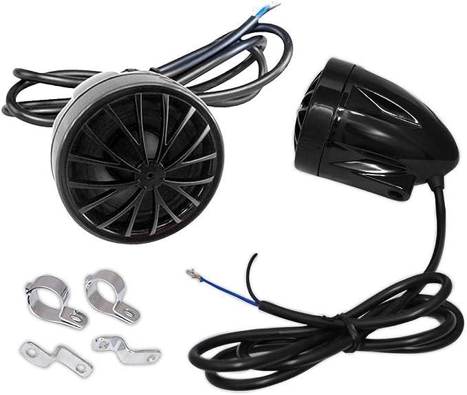 Pyle PLMCS36 Altavoces de Motocicleta dise/ño Cromo-Acentuado Negro