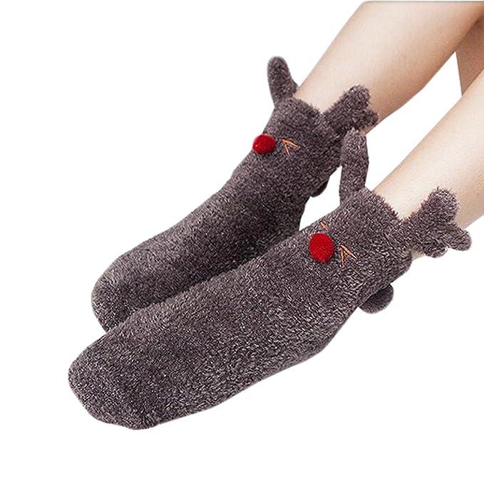 Fuzzy Suaves para Dormir Calcetines de la Historieta del Deslizador Calcetines Antideslizantes Calcetines del Piso - Marrón: Amazon.es: Ropa y accesorios