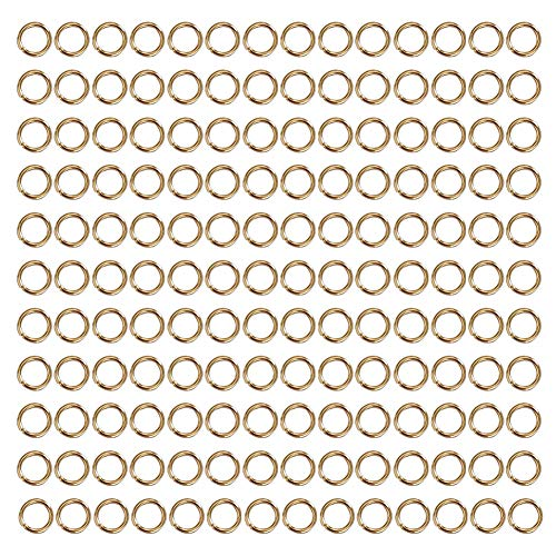 WUBOECE 6mm Open Jump Rings Jewelry DIY Findings for Choker Necklaces Bracelet Making, KC Gold, 1000 PCS