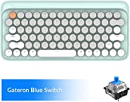 Bluetooth Mechanical Keyboards, LOFREE Four Seasons Retro Vintage Mechanical Keyboard with Gateron Blue Switch/White LED Back