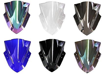 WSShop Parabrisas de doble burbuja para motocicleta Kawasaki ...