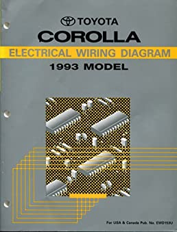 1993 toyota corolla electrical wiring diagram ae101 102 series rh amazon com Toyota Wiring Diagrams Color Code Toyota Wiring Diagrams Color Code