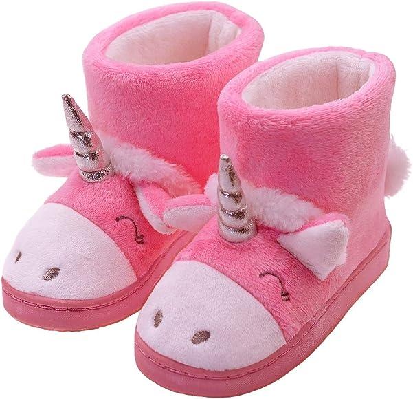 Toddler Girl Unicorn Boots Warm Cute