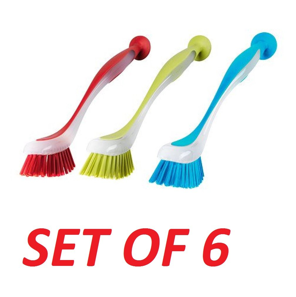 Ikea 301.495.56 Plastis Dishwashing Brush, Assorted Colors, Set of 3