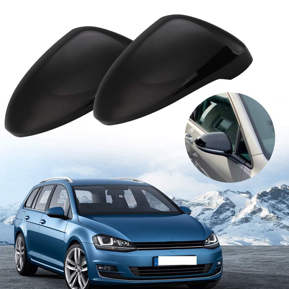 nero lucido Fydun Coperchio specchietto retrovisore lato auto Coperchio specchio 2 pezzi