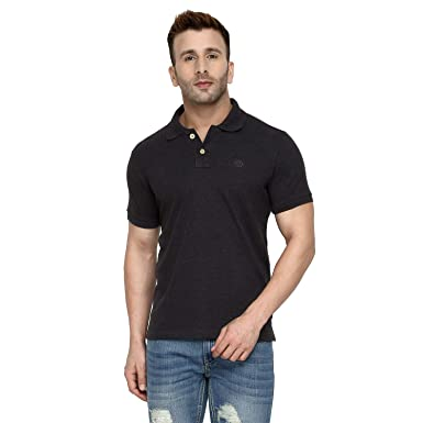 7ea410c3e CHKOKKO Two Button Half Sleeves Polo Neck Cotton T Shirts for Mens Small  Size Red