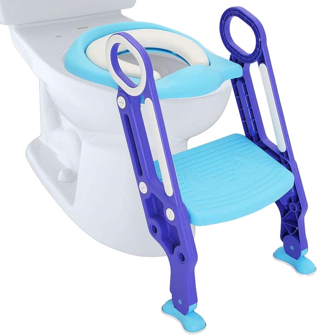 やむを得ない外部ヶ月目Baoblaze ベビー用 トイレ用便座 トイレトレーナー  トイレ用 補助便座 取外し可能 使い便利 全5色 - ライトブルー