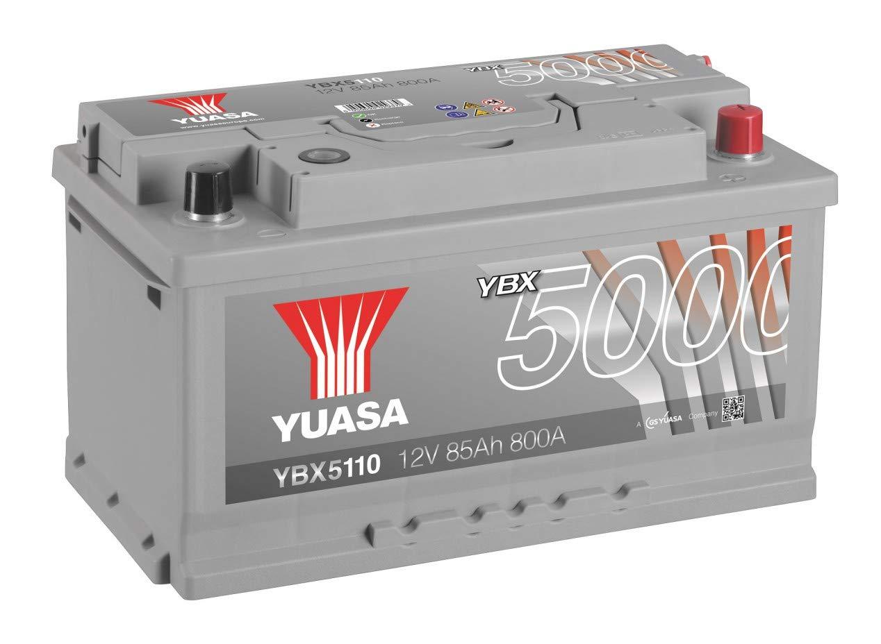 BATTERIE YUASA YBX5110 SILVER 12V 85Ah 800A YUASA