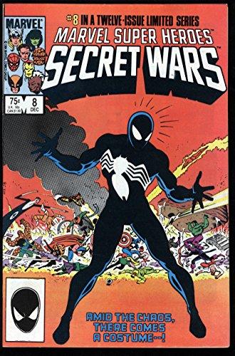 Marvel Super Heroes Secret Wars #8 FN W Pages Spider-Man Black Suit Explained