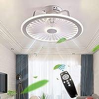 Plafondventilator met verlichting, met afstandsbediening, dimbaar, dimbaar, windsnelheid, 40 W, moderne led-plafondlamp…